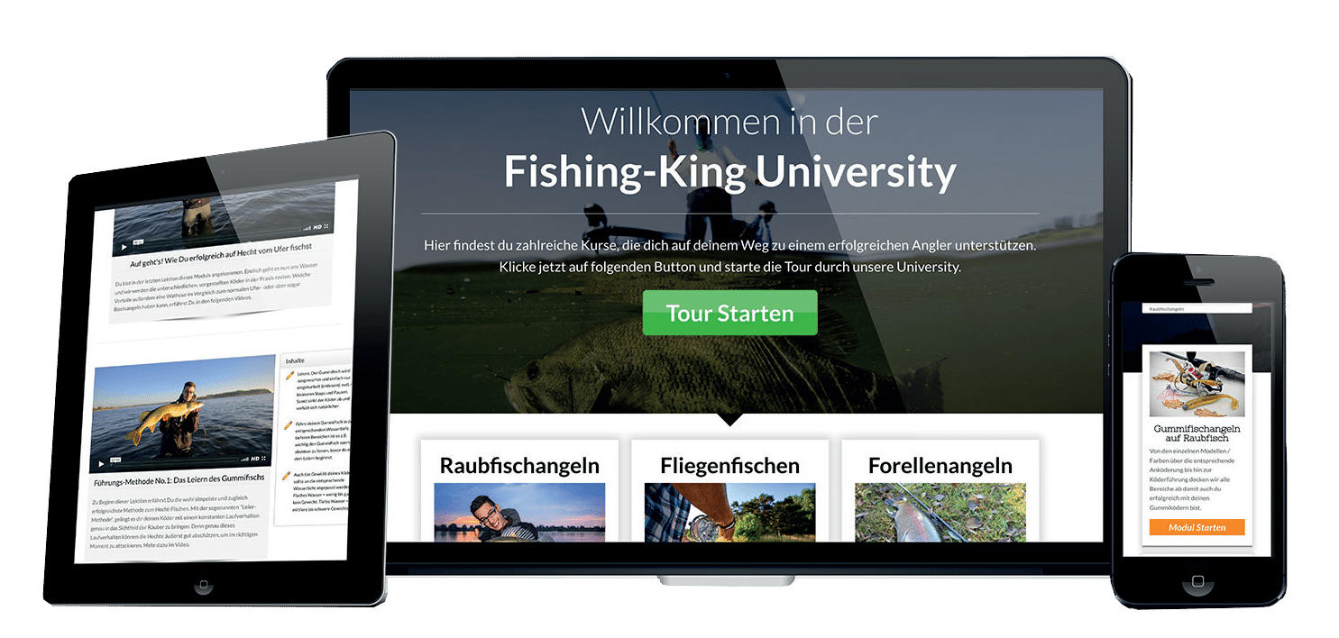 Fishing-King-University Angeln Zielfisch Guiding